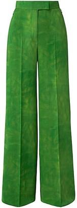 Akris Floretta Silk Crepe Georgette Wide-Leg Pants