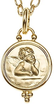 Temple St. Clair 18k Gold 14mm Angel Pendant