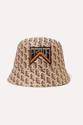 Prada Appliquéd Metallic Jacquard Bucket Hat - Beige