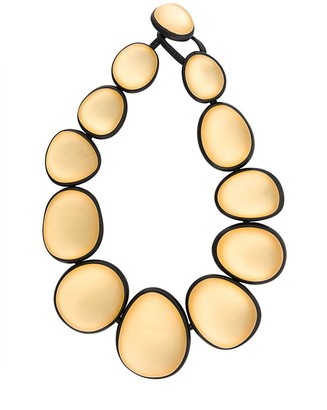 Monies Jewellery Two-Tone Oversized Bead Necklace