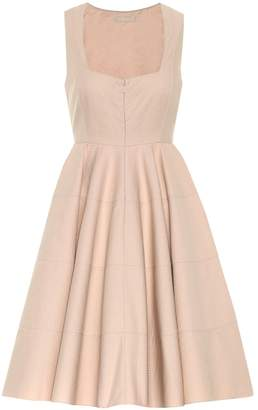 Alaia Cotton fit-and-flare dress