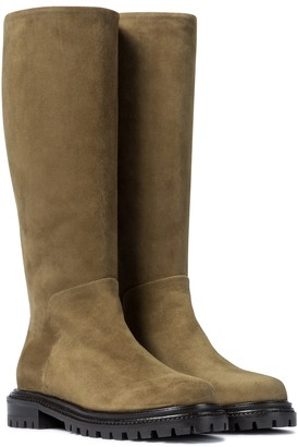 Aquazzura Sky suede knee-high boots