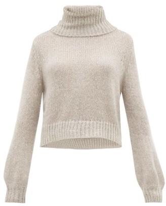 Apiece Apart Ishia Cropped Roll-neck Sweater - Womens - Grey