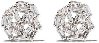 Suzanne Kalan 18kt white gold Fireworks Circle diamond studs