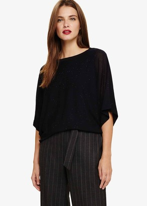 Phase Eight Gisella Glitter Knitted Top