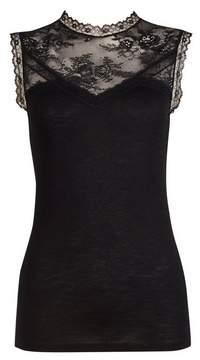 Dorothy Perkins Womens **Tall Black Lace Victoriana Top, Black