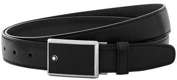 Montblanc Square-Buckle Leather Belt