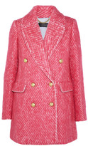 J.Crew Coco Double-breasted Tweed Coat - Bubblegum