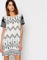 Vila Zig Zag Print Shift Dress