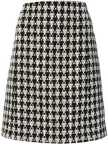 'S Max Mara patterned knitted straight skirt