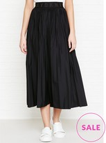 DKNY Pleated Skirt With Elastic Logo Waistband
