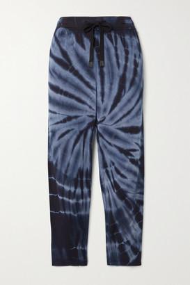 Splits59 Reena Tie-dyed Stretch-modal Track Pants - Navy