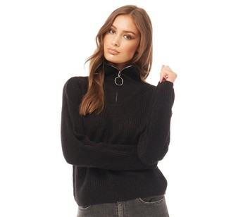 Brave Soul Womens Acorn Jumper Black