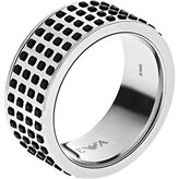 Emporio Armani MEN'S STAINLESS STEEL 'OFF THE GRID RING' EGS2118, Size 11