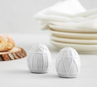 Pottery Barn Marguerite Ceramic Eggs Salt & Pepper Shakers