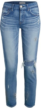 Moussy Lenwood Mid-Rise Distressed Jeans