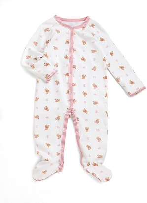 Ralph Lauren Baby Girl's Bear Print Cotton Footie