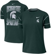 Nike Women's Green Michigan State Spartans Double Knit Fashion Performance T-Shirt