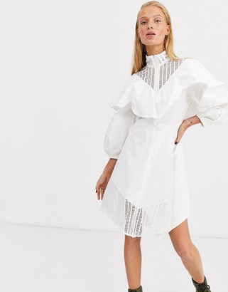 Asos lace insert cotton skater dress