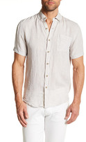 Report Collection Short Sleeve Enzyme Wash Linen Regular Fit Shirt