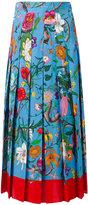 Gucci floral print skirt - women - Silk - 42