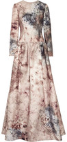 Valentino Printed Cotton And Silk-Blend Gown