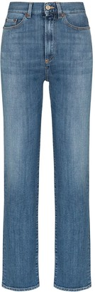Jeanerica Super high-waisted straight-leg jeans
