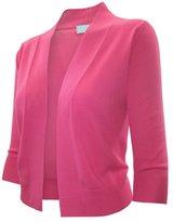 Time Story Ever77 Women's 3/4 Sleeve Open Bolero Cardigan/S,M,L,XL/TC1016-,XL