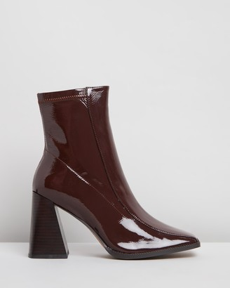 Mae Tide Leather Ankle Boots