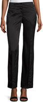 Laundry by Shelli Segal Tonal-Print Wide-Leg Trousers, Black