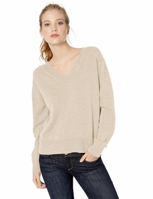 Daily Ritual Amazon Brand Women's 100% Cotton V-Neck Sweater