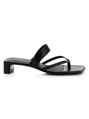 Rag & Bone Colt Leather Mid-Heel Sandals