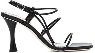 Proenza Schouler Square-toe Leather Sandals - Black