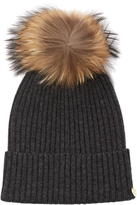 Yves Salomon Cashmere and wool-blend beanie hat