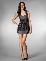 NAVE Flower Jacquard Sleeveless Dress in Black