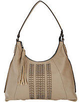 Oryany As Is Pebble Leather Hobo Bag with Braided Detail - Alli