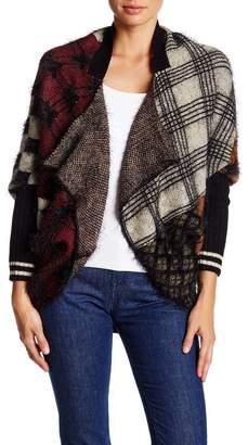 Vertigo Mixed Pattern Cocoon Sweater