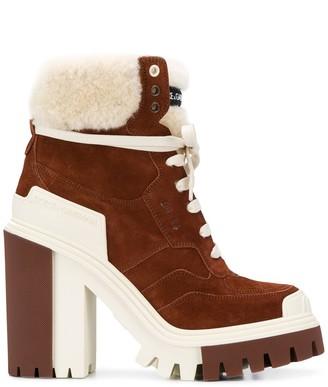 Dolce & Gabbana High-Heeled Trekking Boots
