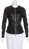 Thomas Wylde Leather Crew Neck Jacket