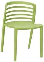 Modway Curvy Plastic Chair, Green
