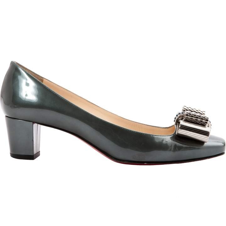 Christian Louboutin Green Patent leather Heels