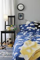 Nubie Modern Kids Boutique Blue Cloud Print Single Bed Set