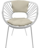 David Francis Furniture Aura Collection Papasan Chair Upholstery Color: Bright White