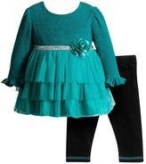 Youngland Baby Girl Tiered Tulle Top & Leggings Set