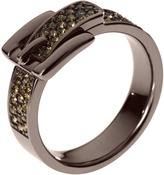 Michael Kors Pave Buckle Ring, Espresso