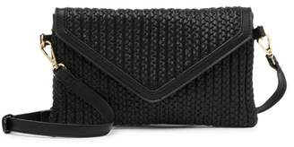 Urban Expressions Vegan Leather Woven Crossbody Bag