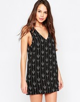 Goldie Dream Team Shift Dress In Arrow Print
