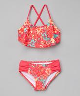 Kanu Surf Pink Karlie Flounce Bikini - Toddler
