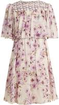 Giambattista Valli Anemone-print silk-georgette dress