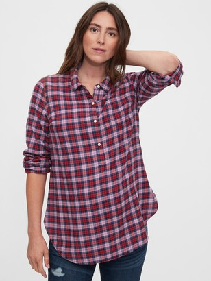 Gap Maternity Easy Plaid Shirt
